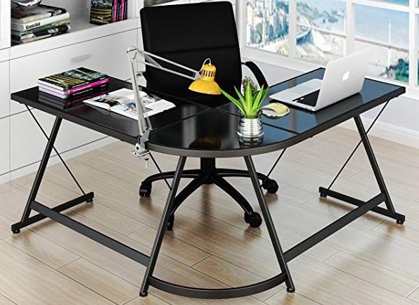 SHW L-shaped desk