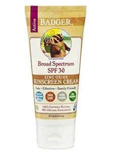 Badger sunscreen cream