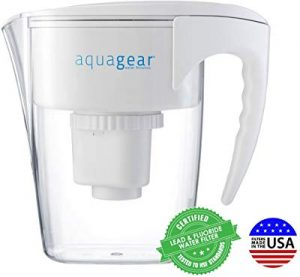 Aquagear 10-cup water filter pitcher
